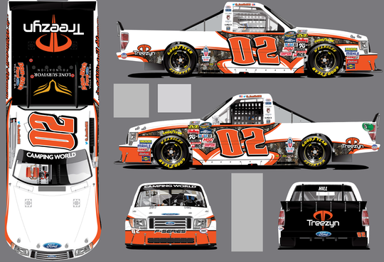 Austin Hill Welcomes Treezyn Camo as he Readies for Charlotte Motor Speedway