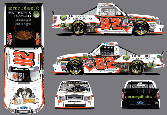 Outdoors International and Casey Jensen Team with Austin Hill at Martinsville Speedway
